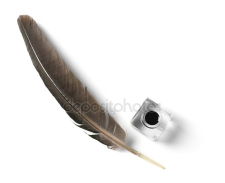 depositphotos 132455214 stock photo feather pen and inkwell