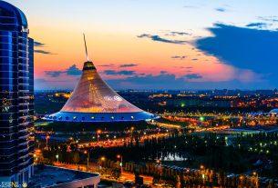 astana at night kazakhstan 1