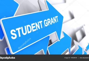 depositphotos 145928439 stock photo student grant label on blue