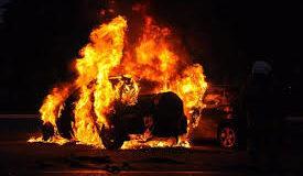Пожар иномарка
