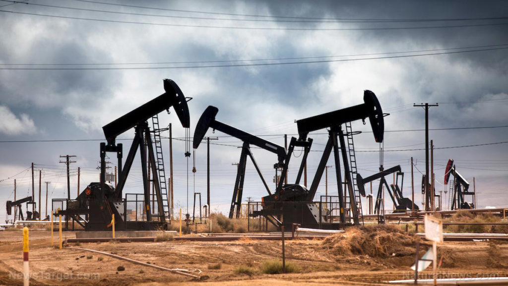 Oil Well Pumps Field Clouds